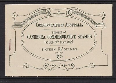 1927 2/- complete Booklet, Opening of Federal Parliament house, MUH