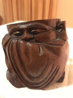 Chinese Carved Brush Pot Antique Wood