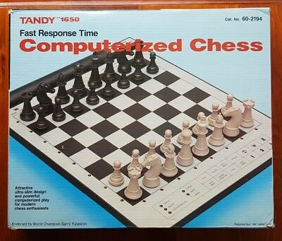 Vintage Tandy 1650 Computerized Chess Electronic Tested Working Cat. No. 60-2194