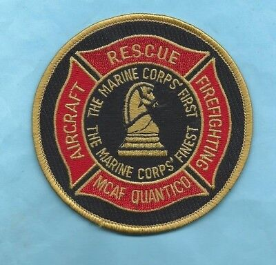 (Very Rare) MCAF QUANTICO THE MARINE CORPS' FINEST FIREFIGHTING Patch (USA)