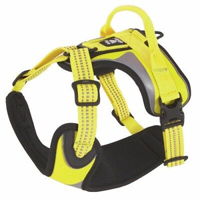 HURTTA High Visibility Dazzle Dog Harness Yellow 45-60cm