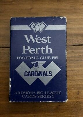 WAFL West Perth Playing Cards Ardmona 1981