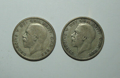 Two 1930 Uk Silver Coins , Florin ,  No Reserve