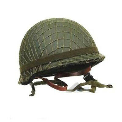 WWII WW2 US Military M1 Helmet Cover Net Webbing Cotton Camouflage Green