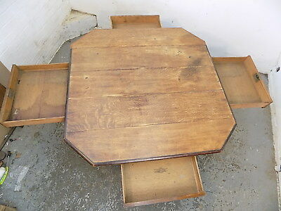 victorian,oak,table,four drawers,barley twist legs,library,dining,antique,square