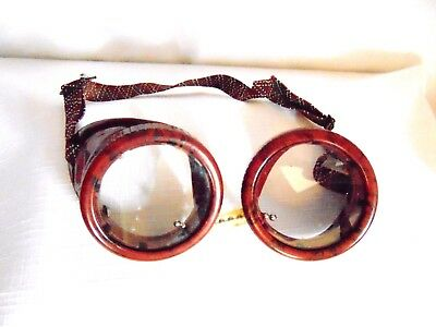 Vintage Bakelite Safety Goggles / Glasses Steampunk