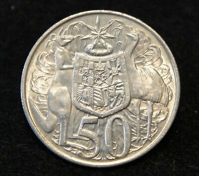 1966 Australia Half Dollar in AU Condition 80% SILVER NICE Old Collectible
