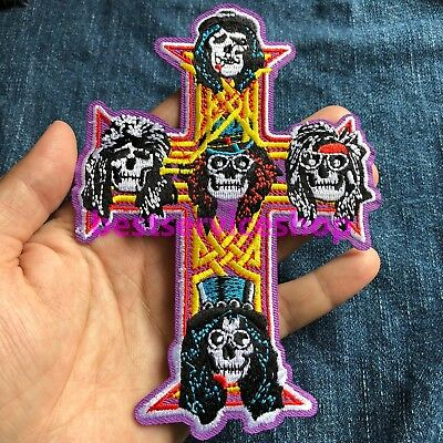 Guns N Roses GNR Appetite for Destruction Album Cover Skull Cross Axl Rose Patch