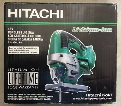 Hitachi CJ18DGLP4 18-Volt Variable Speed Keyless Cordless Jigsaw (Bare Tool)