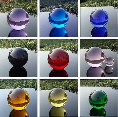40mm+Stand Crystal Glass Ball Feng shui Magic Healing Crystals Balls f66