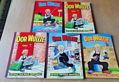 OOR WULLIE, 5  ANNUALS FROM 80's