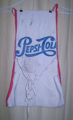 1960's Vendor Apron for Pepsi-Cola Canvas Material w Pockets