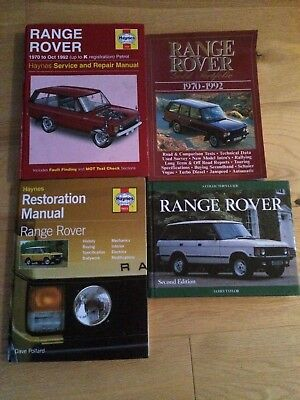 Range Rover Haynes Manual, Restoration Manual, Collectors Guide and Gold Edition