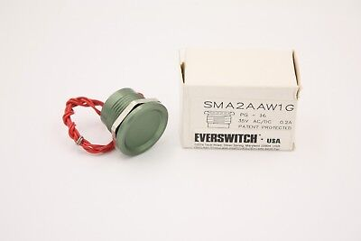 "Touch Switch Green Aluminum 0-35v for 22mm (7/8"") Hole, Military Spec, USA ~NEW!"