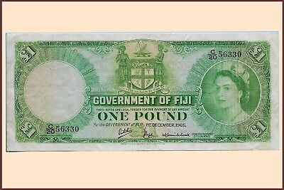 Fiji - 1 Pound 1965 (Pick.53H)....   VF-gVF