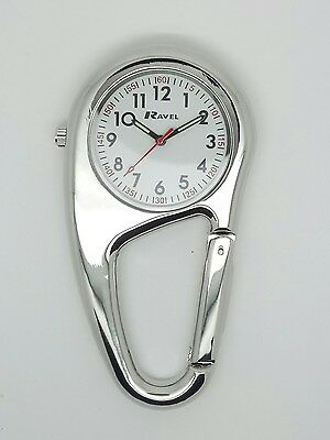 Nurse paramedic chef hiker fob carabiner clip on watch by Ravel  R1105.01