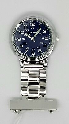Nurse fob watch by lorus BLUE dial RRP£29.99 RG251DX9