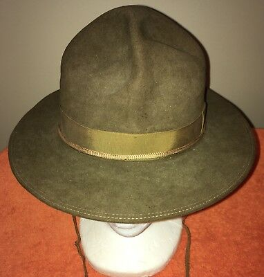 Vintage Stetson Official Hat Of The Boy Scouts Of America Size 7 1/8