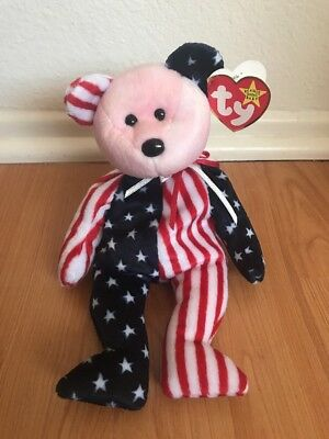 "TY Beanie Baby ""1999 Spangle Pink Face"" Rare with Tag Errors"