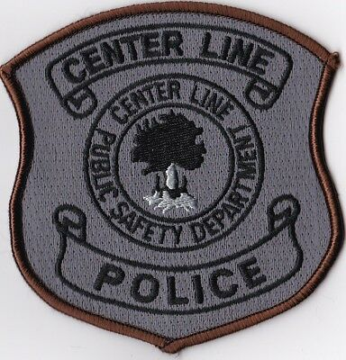 Center Line Public Safety Dept. MI brown border Police Michigan Patch NEW!