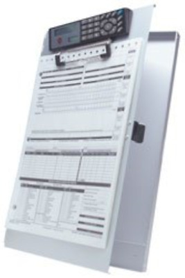 RoadPro Deluxe Aluminum Clipboard & Forms Holder With Solar Calculator