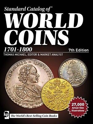 Standard Catalog of World Coins, 1701-1800 New Krause Price List Free Shipping
