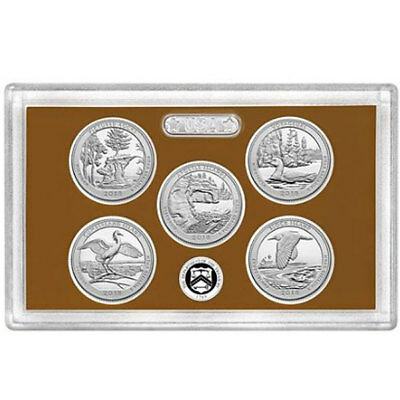 2018-S National Park Quarters Proof Set in Lens. No Box, No CoA