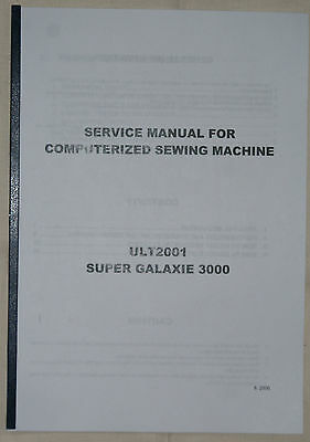 Sewing / Embroidery Machine Service Manual for Brother  Various Models Available