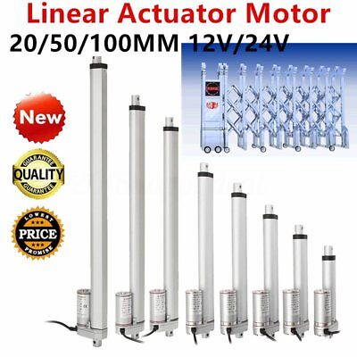 DC24V 20mm-400mm Multi-function Linear Actuator Motor Stroke Heavy Duty LOT ~SME