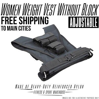 NEW Women Adjustable Weighted Vest without Blocks Gym Fitness Equipment