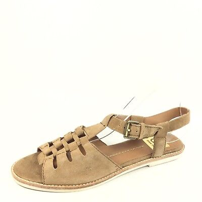 538112caf DOLCE VITA WOMENS Size 8.5 Brown Flat Ankle Strap Sandals. - $51.78 ...