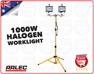 ARLEC 1000W Halogen Worklight With Tripod Dual Lamp DIY Indoor/Outdoor HL21
