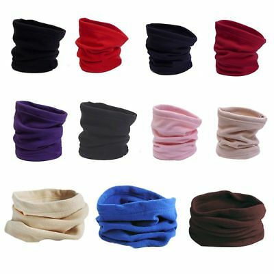 Winter Women Men Sports Thermal Fleece Scarf Snood Neck Warmer Face Mask Hat