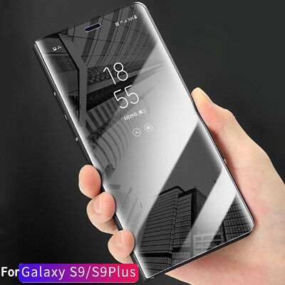 Luxury Clear View Mirror Case Flip Leather Stand Cover for Samsung Galaxy S9Plus