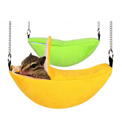 Medium image of banana hammock hanging bunk bed house for squirrel hamster small bird pet warm