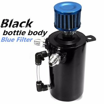 0.5L Black Oil Catch Tank Can Reservoir Breather Filter Alloy Car Racing Engine