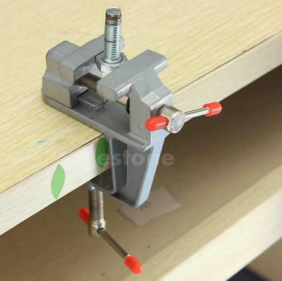 "3.5"" Aluminum Small Jewelers Hobby Clamp On Table Bench Vise Mini Tool Vice KY"