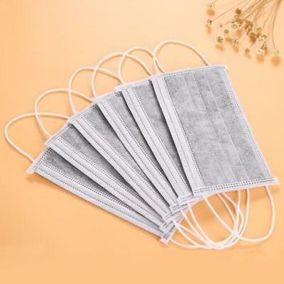 50 Pcs Disposable Four Layer Activated Carbon Face Masks Dust Mask