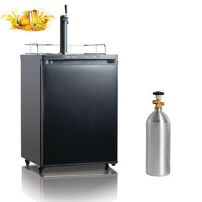 5.6 CU FT Full Keg Kegerator Beer Dispenser Beverage Fridge Bar Home Pub Tap