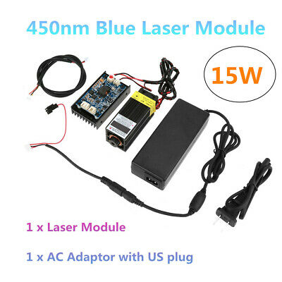 15W Laser Head Engraving Module with TTL 450nm Blu-ray Wood Carving Cutting Tool
