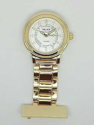 nurse beauticians fob watch yellow gold F137
