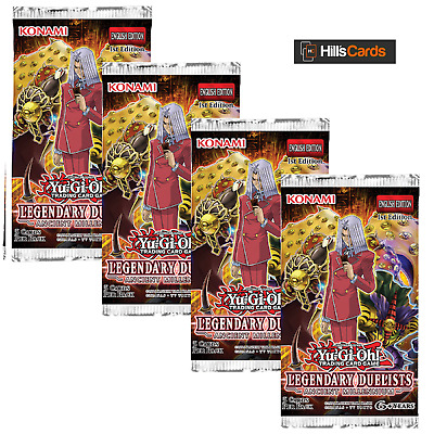 Yu-Gi-Oh Legendary Duelists Ancient Millennium 4 Sealed Booster Packs: TCG Cards