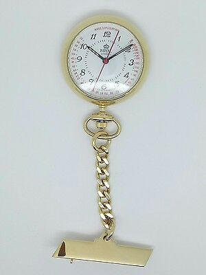 nurse classic fob watch yellow gold finish by Royal London 21019-02 RRP £59.99