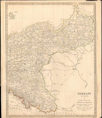1832 Antique Map- Sduk - Germany Ii, Eastern Part Of The Prussian States