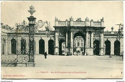 CPA - Carte postale -  FRANCE - Nancy - Arc de Triomphe vu de la Place Carrière