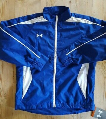 Under Armour Crave Woven warm up track jacket Blue Medium youths 1102329
