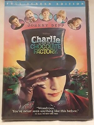 Charlie and the Chocolate Factory (DVD, 2005, Full Frame).........NEW & SEALED*