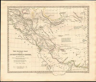 1831 Antique Map- Sduk - Eastern Part Of The Ancient Persian Empire, Iran By G L
