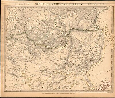 1838 Antique Map- Sduk - Siberia And Chinese Tartary