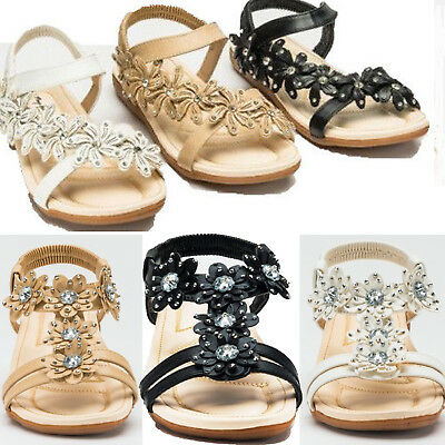Ladies Womens Flat Low Wedge  Summer Beach Fashion Sandals Holiday Shoes Sz 3-8
